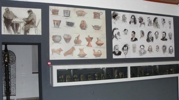 Σχέδιο σε καφενείο (Ιωάννινα 1969) - Μελέτη γλυπτικής κεραμικής (Μουσείο Ηρακλείου 1969)
