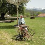 Ένα ποδήλατο με καρέκλα